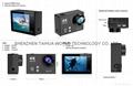 Hot video camera waterproof hd  sports camera H2R remote control 4K action cam 9