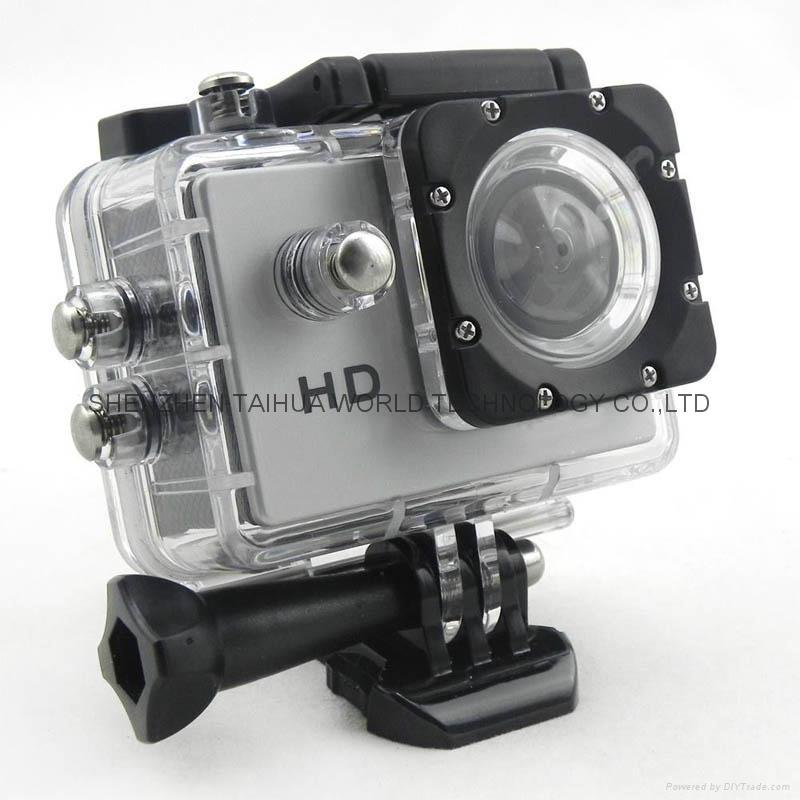 Cheapest sports dv SJ4000 hd 720p action camera 30m watertight mini camera 2