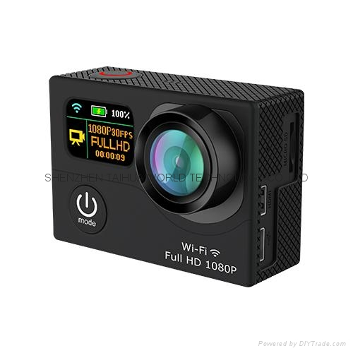 WiFi  30M waterproof  G3  sports camera  GOPRO dual display screen 4