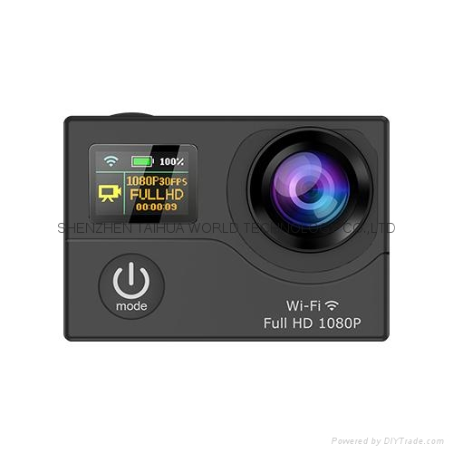 WiFi  30M waterproof  G3  sports camera  GOPRO dual display screen 3