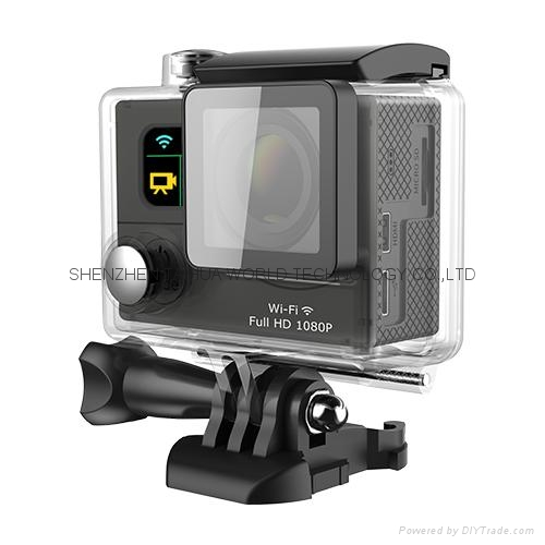 WiFi  30M waterproof  G3  sports camera  GOPRO dual display screen 2