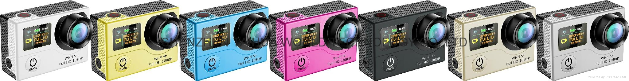 WiFi  30M waterproof  G3  sports camera  GOPRO dual display screen 8