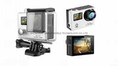 WiFi  30M waterproof  G3  sports camera  GOPRO dual display screen