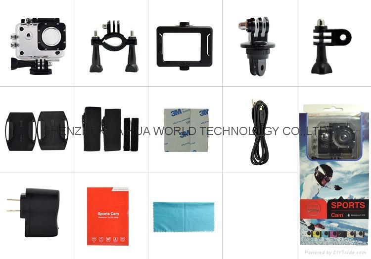 SJ5000 new product sport video camera 720P waterproof  colorful camera 12