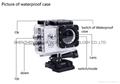 Original sports dv SJ4000 hd 1080P action camera 30m watertight mini camera 15
