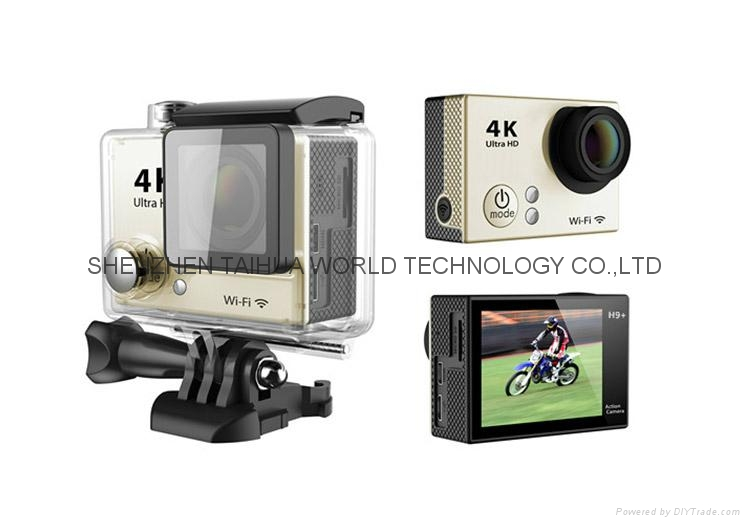 HOT H9 PIUS WiFi 4K HD Sport Action Camera with 30m waterproof camera case 2