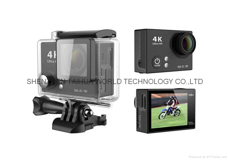 HOT H9 PIUS WiFi 4K HD Sport Action Camera with 30m waterproof camera case 1