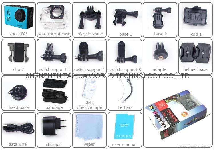 Best selling SJ5000 WIFI 30M waterproof sport video recorder camera mini dv 9