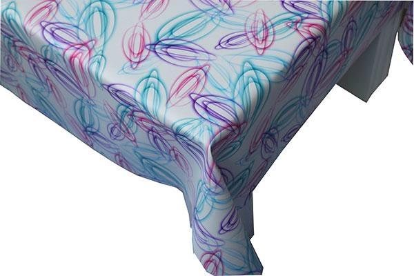 FloralPrinted Fabric TableCover 1