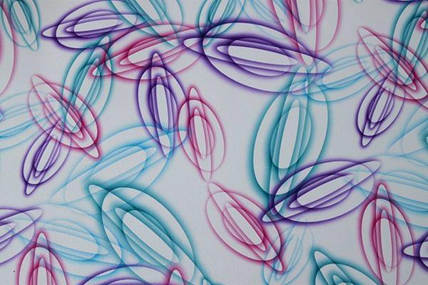 FloralPrinted Fabric TableCover 2