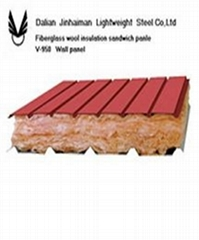 glasswool insulation sandwich panel for roof and wall