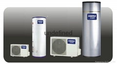 Household type air can water heater