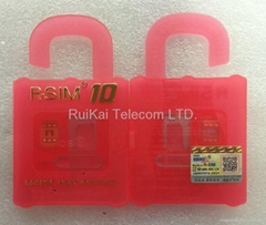 Hot Selling And General Used Nano Cloud Unlock Card R-SIM 10