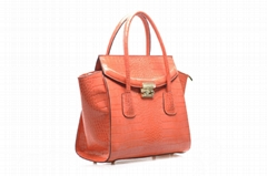Best Selling Nice Quality Leather Ladies Handbags leather knitting bag
