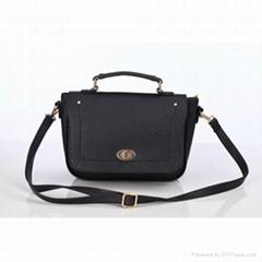 black pu leather women handbag fashion