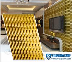 new design 3D interior decorative wall panels Plastic panel
