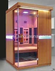 2015 High End 2Person Carbon Combine Full Spectrum Heater Infrared Sauna Cabin