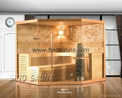 2015 Finnish Traditional Sauna Steam Room with Star Lights and Himalaya Stone
