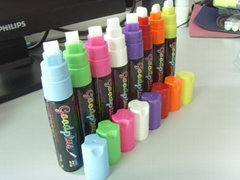 8 pack white/blue/green/yellow/pink/orange/black/red/purple marker/liquid chalk/