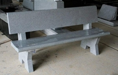 Light Gray G633 Granite Monument & Tombstone Cemetery Bench