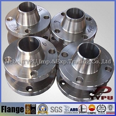 Carbon Steel Ansi Pipe Fittings Weld Neck Flange large Dimension