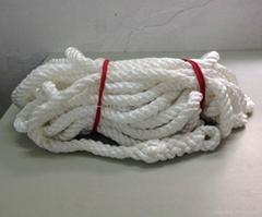 白色尼龍逃生全手工編安全繩20米