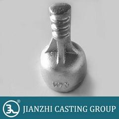 ductile iron glass insulator cap