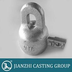 metallic fitting for toughened glass insulator cap