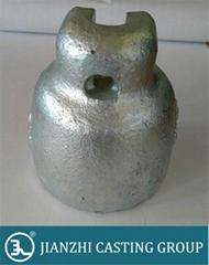 hot dip galvanized glass insulator cap