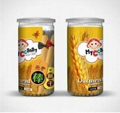 台湾进口我D小蔡蔡棒饼燕麦棒饼干150g整箱24罐