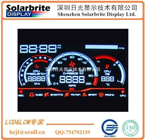 高档汽车里程仪表VA-LCD液晶显示屏 1