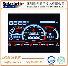 高档汽车里程仪表VA-LCD液晶显示屏