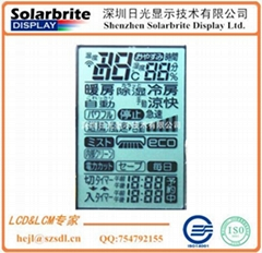 LCD液晶顯示屏空調控制器LCD顯示屏出口日本空調用STN-