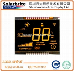 thermostat temperature LCD module with backlight