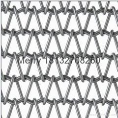 Crankshaft type mesh conveying belt