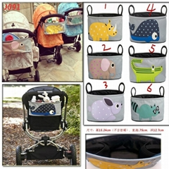 Cartoon Baby Basket Stroller Organizer & Drink Bag for Baby Travel