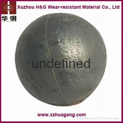 Low wear-rate chrome alloy casting grinding balls for copper mine industry