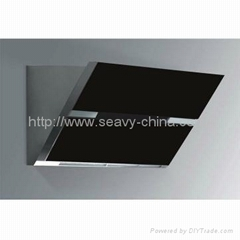 Range Hoods with Touch Button Tempered Glass Side Suction