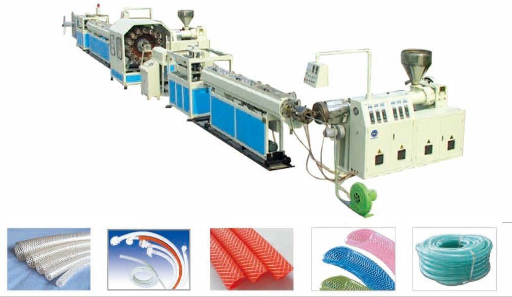 PVC Fiber Reinforced Soft Pipe/Garden Hose Production Line 4