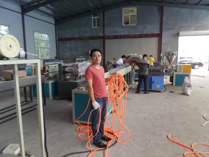 PVC Fiber Reinforced Soft Pipe/Garden Hose Production Line 2