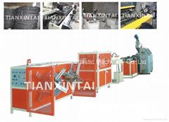 Plastic single wall corrugated pipe extrusion machine