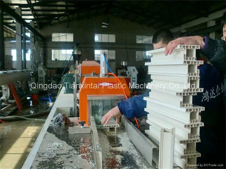 PVC window profile extrusion line 1