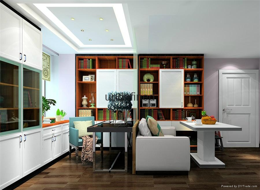 新古典商务休闲整体书柜 2