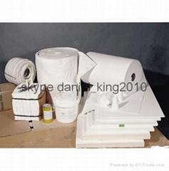 High-purity refractory ceramic fiber blanket