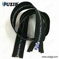 fancy metal zippers