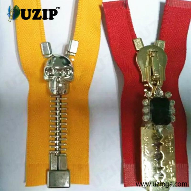 fancy zipper slider and metal zippers for jackets 3
