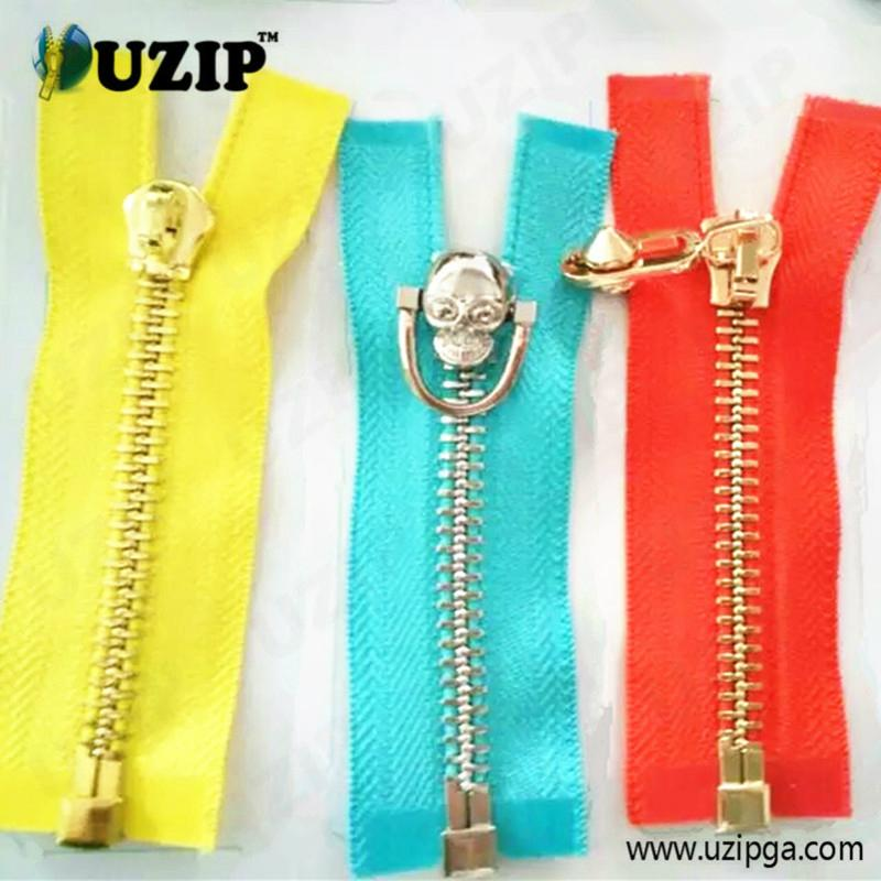 fancy zipper slider and metal zippers for jackets 4