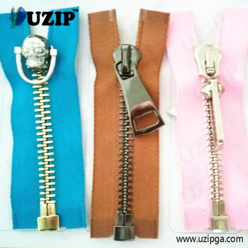 fancy zipper slider and metal zippers for jackets 5