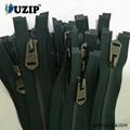 Black Nickel Bottom Separating Zipper