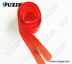Metallic Jacket Zippers